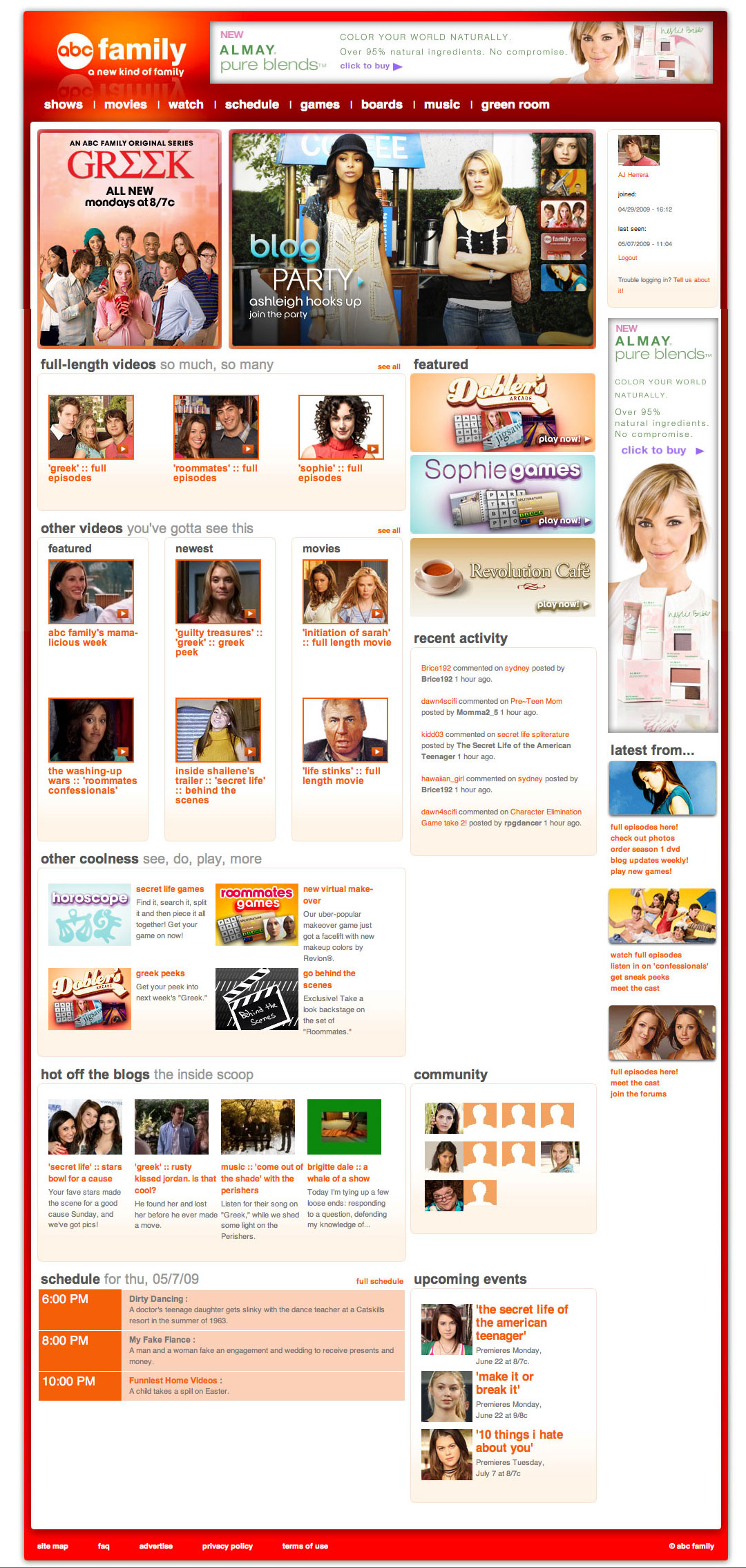 ABC Family Website Design